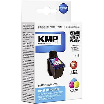 KMP Ink replaced HP 28 Compatible Cyan, Magenta, Yellow H14 0997,4280