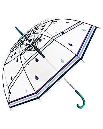 Straight Clear Umbrella (Rain Drops)