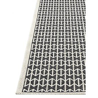 In - and outdoor carpet balcony / living room Skandi look black beige 155 x 230 cm