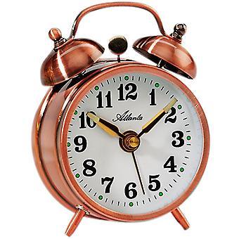 Atlanta 1068/18 mechanical alarm bell alarm clock copper colors round