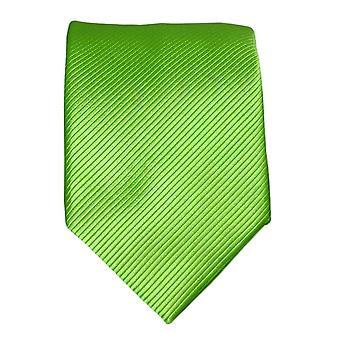Green silk tie V41