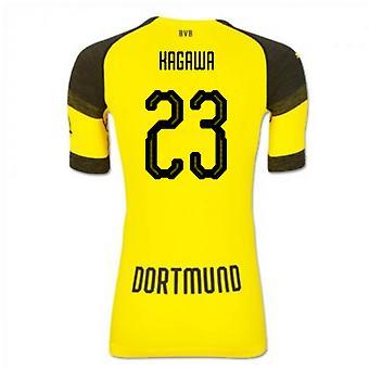 2018-2019 Borussia Dortmund Puma authentiek EvoKNIT thuis voetbalshirt (Kagawa 23)
