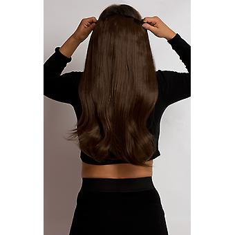 IKRUSH Womens Intense Volume ClipHair Extensions - Flicky Chesnut