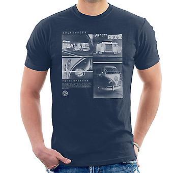 Volkswagen T1 Campervan 1967 Shots Men's T-Shirt