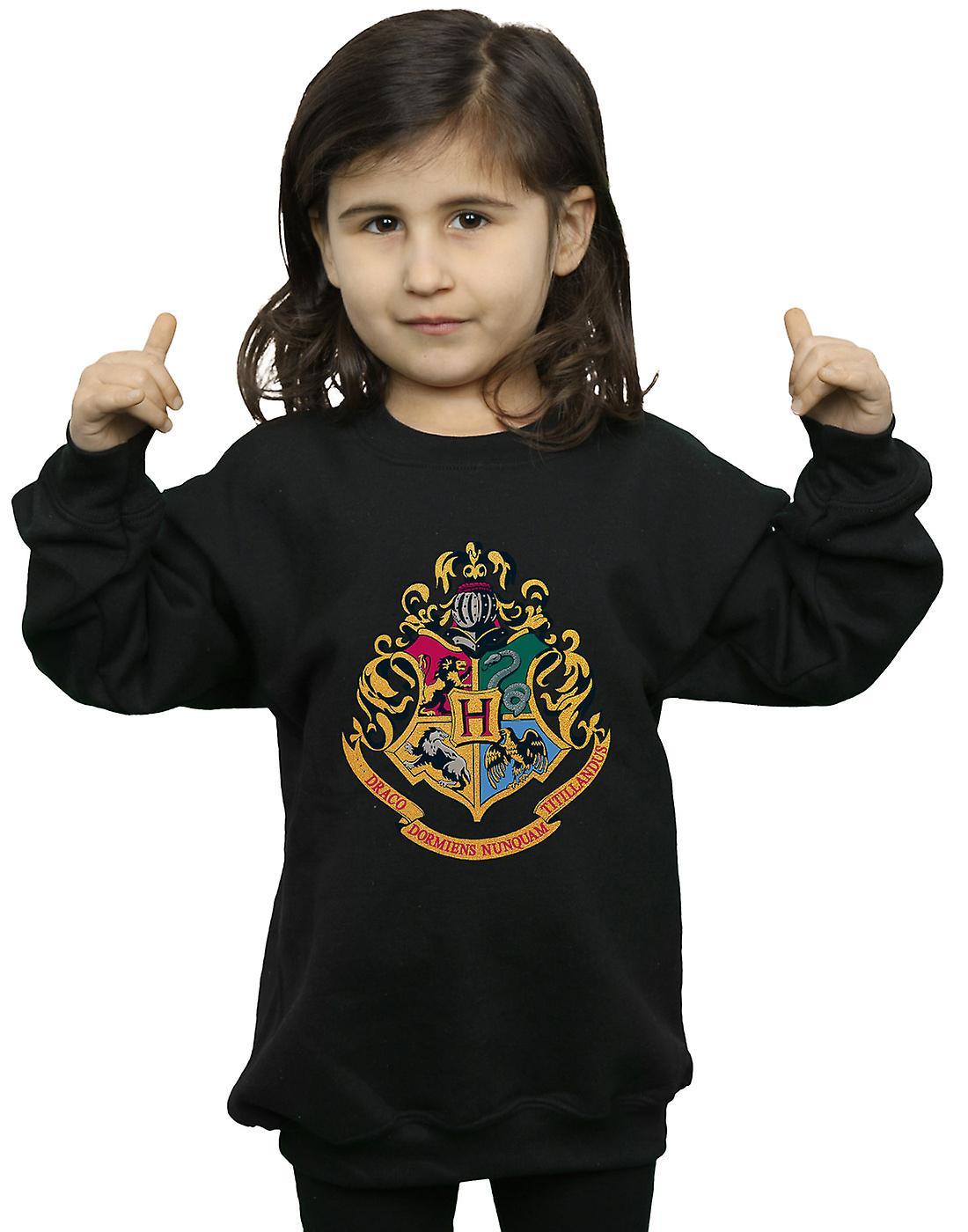 Harry Potter Girls Hogwarts Crest Gold Ink Sweatshirt