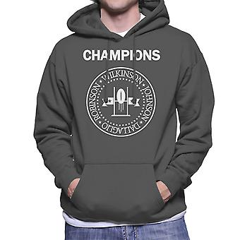 Champions Wilkinson Johnson Dallaglio Robinson Six Nations Men's Hooded Sweatshirt