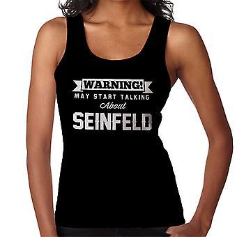 Warning May Start Talking About Seinfeld Women's Vest