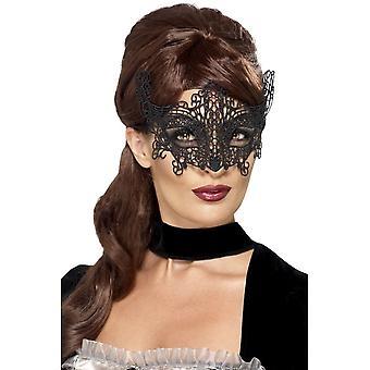 Embroidered Lace Filigree Swirl Eyemask, One Size
