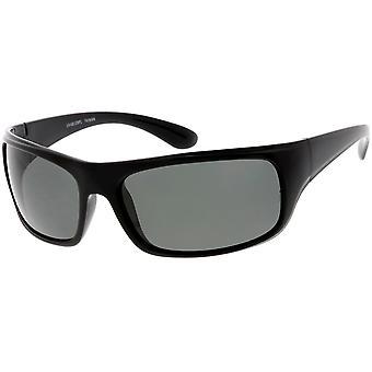 Wrap spolaryzowane okulary przeciwsłoneczne prostokąt obiektyw 67mm