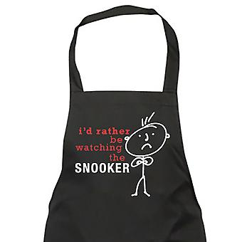 Men's I'd Rather Be Watching Snooker Apron