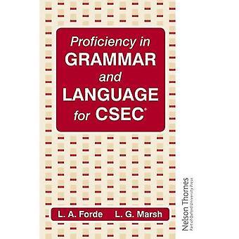 Maîtrise de la grammaire et la langue pour CXC