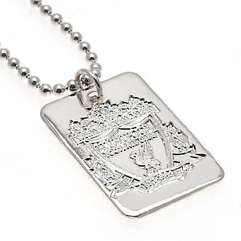 Liverpool FC Silver Plated Dog Tag en ketting