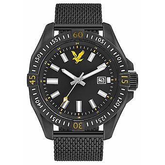 Lyle & Scott Mens Tactical Black PVD Plated Mesh Bracelet Black Dial LS-6017-22 Watch