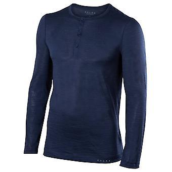 Chemise à manches longues laine soie Falke - espace bleu