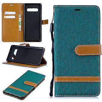 Samsung Galaxy S10 plus telefon komórkowy ochronny pokrowiec pokrywy obudowy etui portfel zielona karta pokrycie