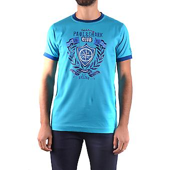 Paul & Shark Ezbc042029 Men's Light Blue Cotton T-shirt