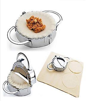 New Stainless Steel Ravioli mould Dumpling Maker Wrapper Pierogie Pie Crimper Pastry Dough Press Cutter 3.7 inch