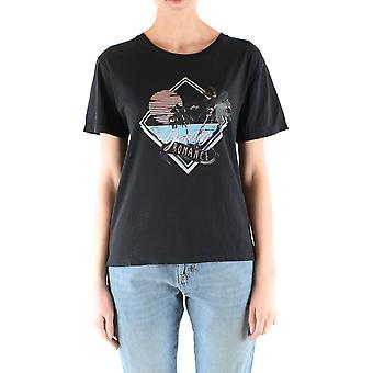 Saint Laurent Ezbc022022 Women's Black Cotton T-shirt