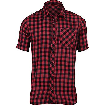 Fox Racing Mens Troubled Mind SS Casual Button Shirt - Red/Black