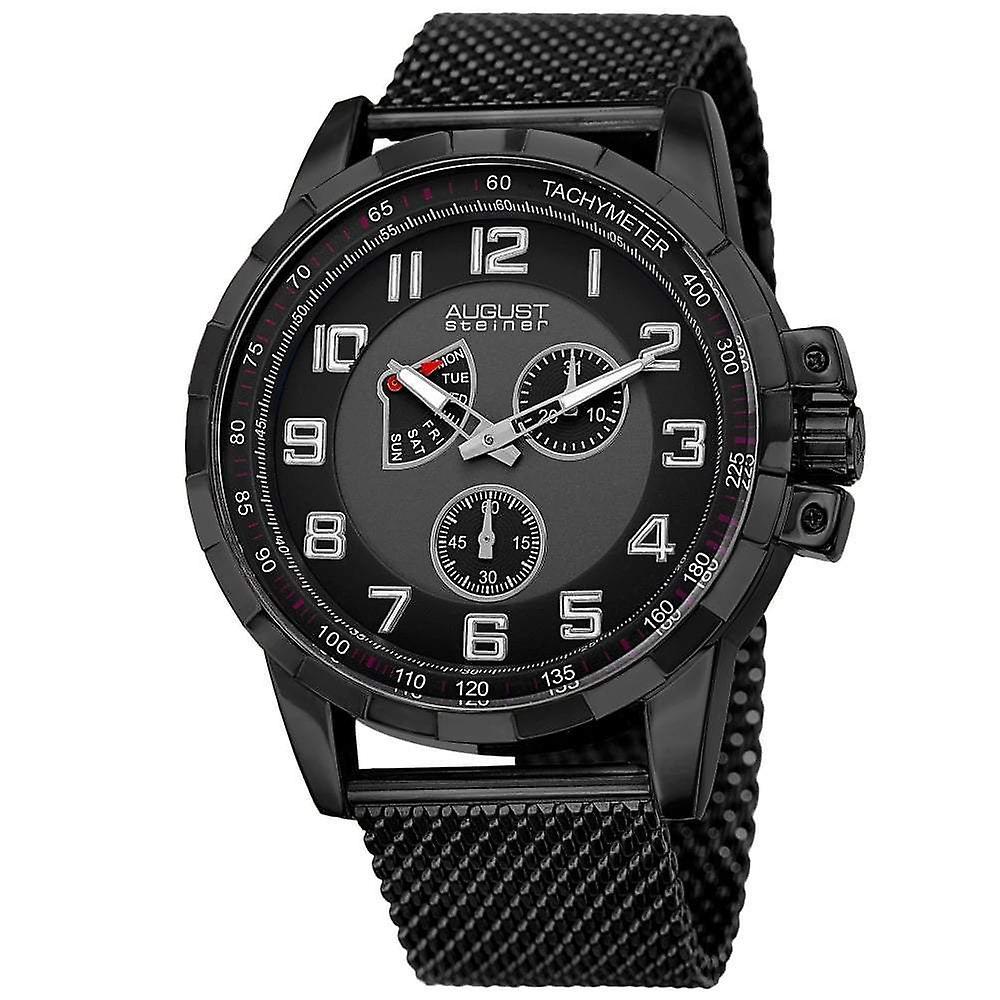 August Steiner Men's Watch AS8202BK