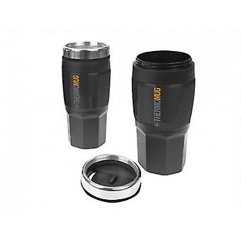Summit 400ml Insulated Flask Black Rubber Finish