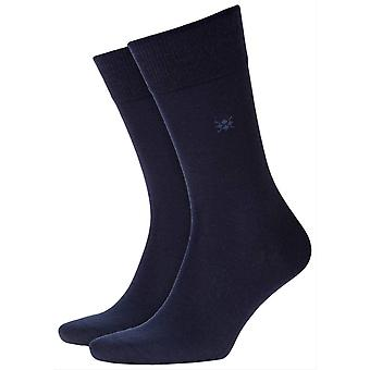Burlington Leeds Socks - Marine Navy