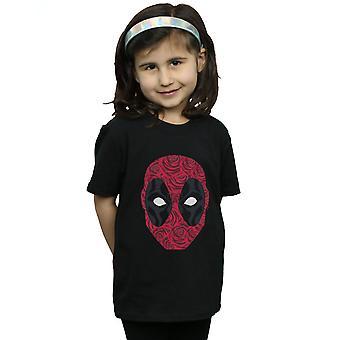 Marvel Girls Deadpool Head Of Roses T-Shirt