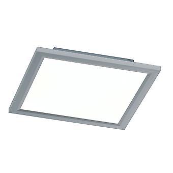 Wofi Milo - LED 1 Light Flush Ceiling Light Silver - 9694.01.70.7300