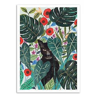 Art-Poster-zwarte Jaguar-Ploypisut 50 x 70 cm