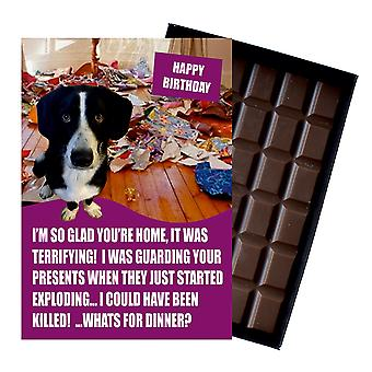 Border Collie Funny Birthday GiftsFor Dog Lover Boxed Chocolate Greeting Card Present