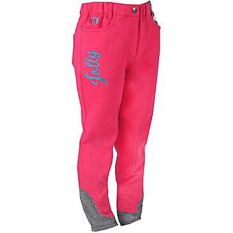 Horka Mathilda Childrens Fabric Patch Breeches - Hot Pink