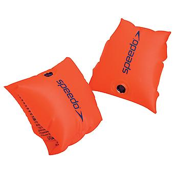 Speedo Sea Squad Kids Baby Swimming Pool Armbands Orange