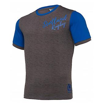 2019-2020 Skottland macron Rugby fritid Polycotton T-shirt (grå)