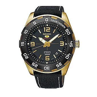 Seiko 5 Sports Gold Coloured Nylon Strap Men's Watch SRPB86K1 44mm