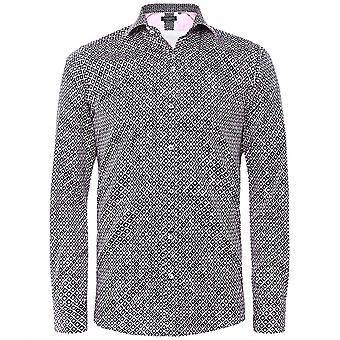 Guide London Slim Fit Diamond Print Shirt