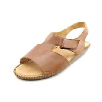 Auditions Womens Sprite Leather Open Toe Casual Slingback Sandals