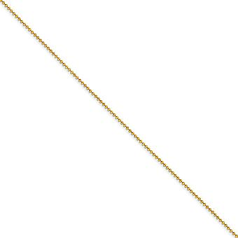 Yellow Rhodium Brass Polished Spring Ring 2.0mm Plated Ball Chain Necklace Jewelry Gifts for Women - Length: 16 to 24