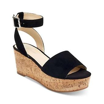 Marc Fisher Womens Rillia Leather Open Toe Formal Ankle Strap Sandals