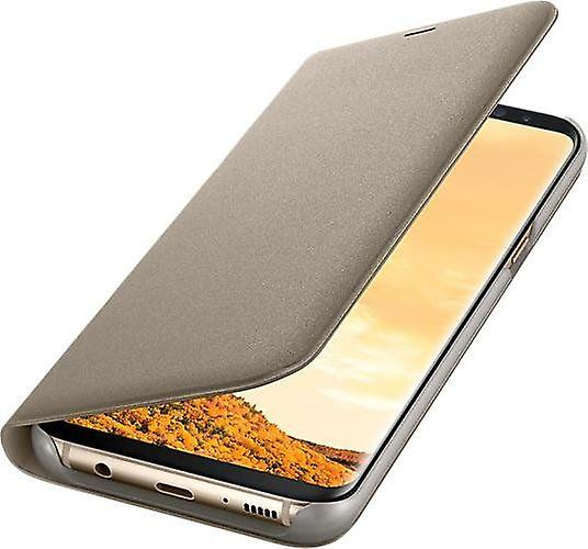 Samsung EF-NG955PF LED View Cover Book Case for Galaxy S8+ Plus gold