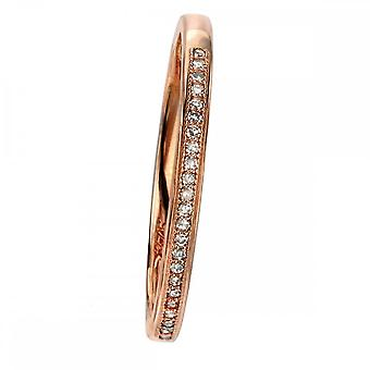 Elements Gold Elements 9ct Rose Gold Pave Set Diamond Ring GR513