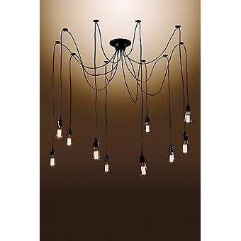 Laycie 10-bulb Edison Chandelier with Bulbs