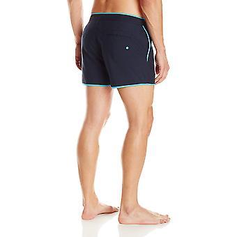 Original Penguin Men's Earl Box 3 Inch Swim Short, Total, Total Eclipse, Size 29