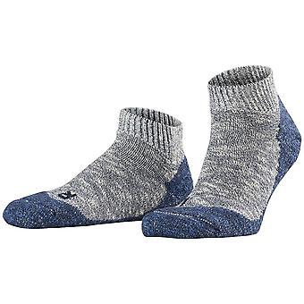 Falke Lodge homepad pantoffel sokken-Storm Grey/Navy