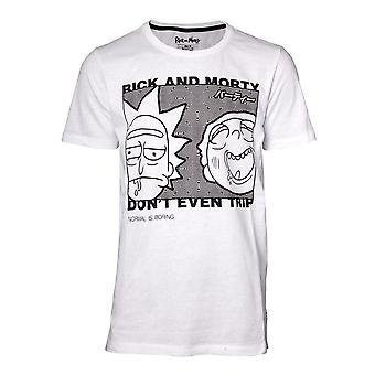 Rick and Morty Dont Even Trip T-Shirt Male Small White (TS540144RMT-S)