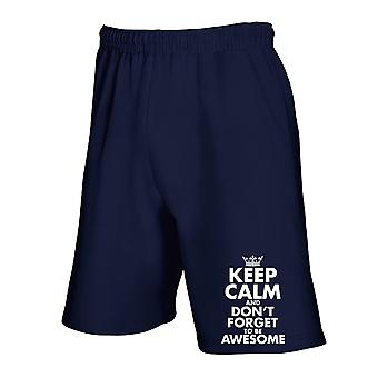 Pantaloncini tuta blu navy trk0568 wkeep calm