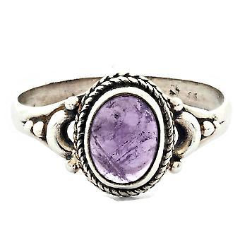 Ring 925 Silber mit Amethyst 54 mm / Ø 17.2 mm (KLE-RI-021-01-(54))