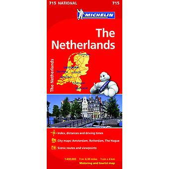 The Netherlands  Michelin National Map 715  Map by Michelin