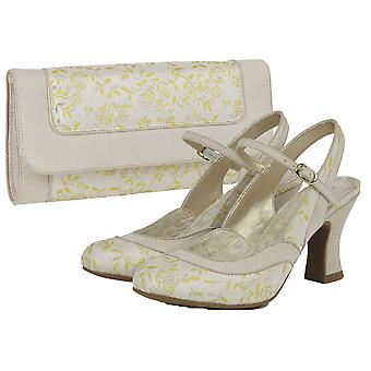 Ruby Shoo Femmes-apos;s Lucia Brocade Slingback Bar Chaussure et Sac Charleston Matching