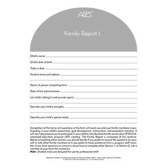 Aeps Family Report - I - Birth to Three Years (2nd) by Betty Capt - Joa