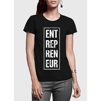 起業家垂直半袖女性 t シャツ